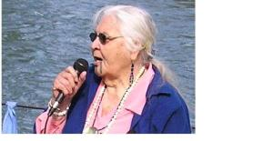 "Siletz-Takelma elder  ""Grandma Aggie"" Baker at Willamette River blessing"